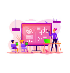science lessons concept vector image