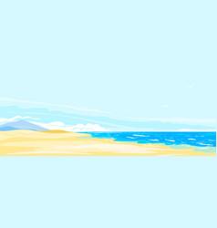sea coast panorama with sandy beach vector image