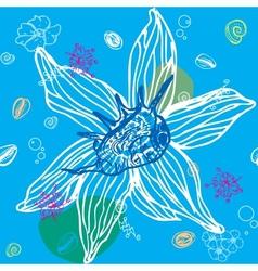 Sea Shells Seamless Pattern vector image
