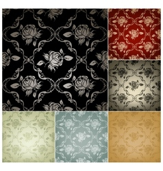 Seamless pattern set six colors vector