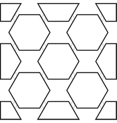 Seamless pattern with black hexagons vector