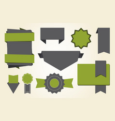 set labels and stickers on vector image