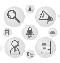 simple icons for web vector image