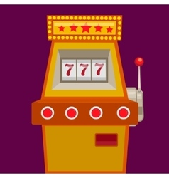 Slot machine with jack pot vector