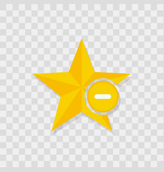 star icon minus icon vector image