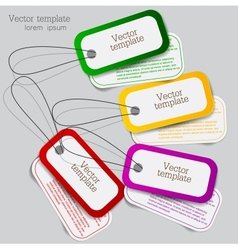 Sticker label set vector image
