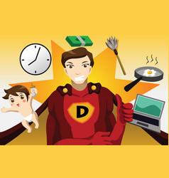 superhero dad concept vector image