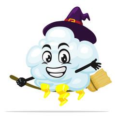 Thunder cloud mascot or character vector