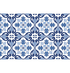 traditional ornate portuguese tiles azulejos vect vector image