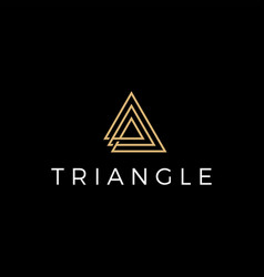 triangle logo icon vector image