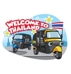 tuk tuk car of thailand vector image