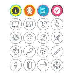 Universal icons quotes ribbon heart and cake vector