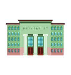university green color building icon vector image