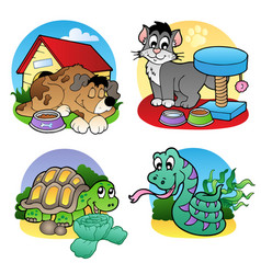 various pets images 2 vector image