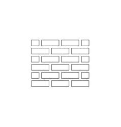 wall flat icon vector image
