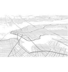 white map new york vector image