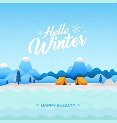 winter nature background vector image