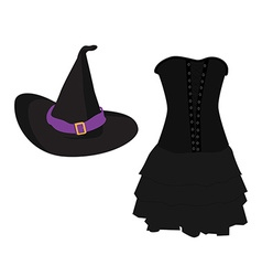 Witch costume vector image