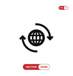 world wide icon vector image