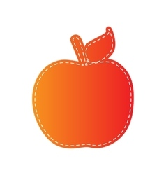 Apple sign Orange applique isolated vector image vector image