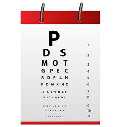 eye testing board vector image