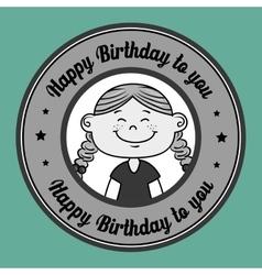 girl happy birthday vector image