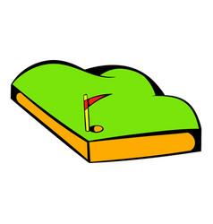 Golf course icon icon cartoon vector