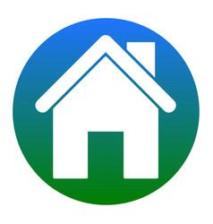 home silhouette white icon vector image