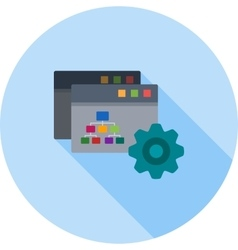 Sitemap Settings vector image vector image