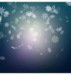Christmas snowflakes background EPS 10 vector image