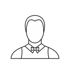 Waiter icon outline style vector image