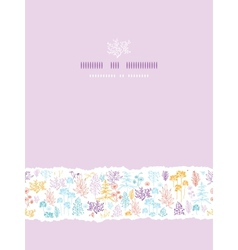 Colorful flowers and plants vertical torn seamless vector image