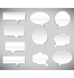 pop-up bubble with shadow on grey background vector image