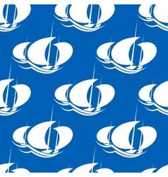 Racing yachts seamless pattern vector image