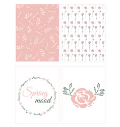 set of cards with natural motifs vector image