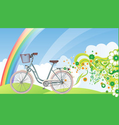 bicycle eco world vector image vector image