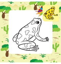 frog coloring page vector image