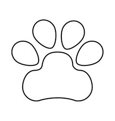 mascot footprint isolated icon vector image vector image