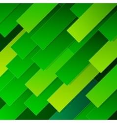 Abstract infographics diagonal green paper sheets vector