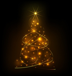 Abstract light Christmas tree vector