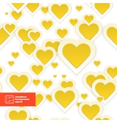 Abstract Paper Hearts Seamless Pattern vector image