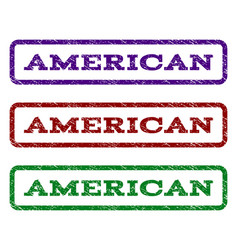 American watermark stamp vector
