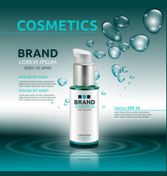 Aqua moisturizing cosmetic ads template hydrating vector
