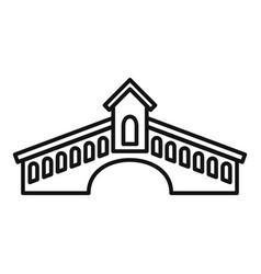 architecture bridge icon outline style vector image