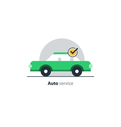 Auto car insurance concept diagnostic servises vector image