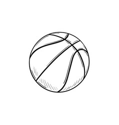 basketball ball hand drawn outline doodle icon vector image