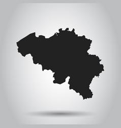 belgium map black icon on white background vector image