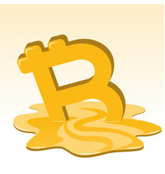 Bitcoin price meltdown vector