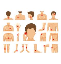 Body pain physical injury human trauma symbols vector