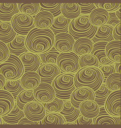 Brown and green swirls spirals repeat vector